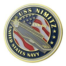 US United States Navy USS Nimitz CVN-68 Military Gold Plated Challenge Coin