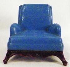 Renwal Armchair Dollhouse Miniature Furniture Living Room Blue L-76 1950s