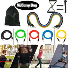 New listing 11-Piece Resistance Band Set Yoga Pilates Abs Exercise Fitness Tube Workout Band