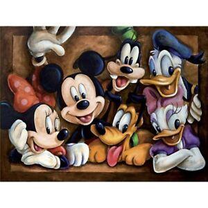 5D Full Drill Diamond Painting Mi Mouse Cross Stitch Kits Arts Decor Gifts