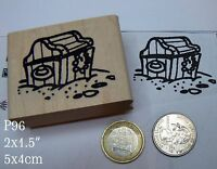 Manatee Near Pirate Treasure Rubber Stamp D20820 WM