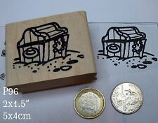 P96 Large pirate's treasure chest rubber stamp