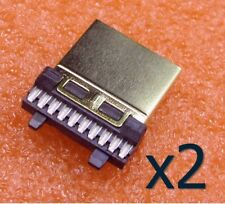 2x Connecteur HDMI Male plaqué Or 19 broches / Male Connector 19 pin gold plated