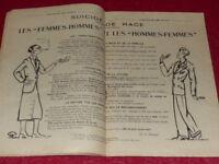 [REVUE L'ANIMATEUR DES TEMPS NOUVEAUX] N°246 #21 NOV 1930 Théorie des genres H/F