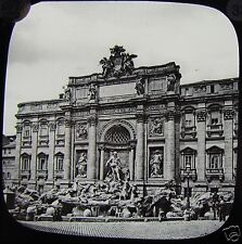Glass Magic Lantern Slide THE TREVI FOUNTAIN ROME C1900 ITALY ROMA PHOTO