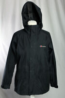 Berghaus Gore-Tex Performance Shell Rain Coat Size 8 Black Camping Hiking!