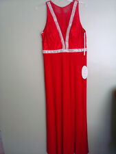 Cindy Collection USA 1442 Prom Red Long Dress size L New with Tags