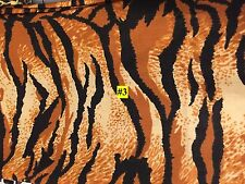 By the Yard Tiger Print 100% Cotton Craft Fabrics for sale
