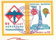 POLAND 1969.VI.21 Ballon KATOWICE, Mail Cat.44 Start POZNAN - SRODA landing