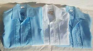 VTG EUC Hawaiian Wedding Shirt Lace Beau Tiki Iolani Hawaii Lot of 3 Size Med