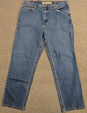 Eddie Bauer Women's Denim Blue Jeans Natural Straight Leg Size 18R 37x31 Stretch