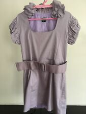 LoLa Lavender Violet Ruffled Top/Blouse with Belt