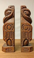 Pair of Native American Creed Resin Totem Bookends // SIGNED