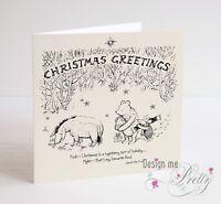 WINNIE THE POOH Christmas Card - Husband Boyfriend Wife Girlfriend Best Friend