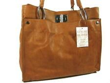ECHT NAPPA LEDER ital. Damen Handtasche XL Tasche Cognac NL952C