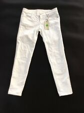 BNWT 100% auth Stella McCartney, White Cropped Cigarettes Jeans 29 RRP £290