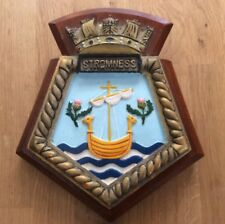 VINTAGE ROYAL NAVY WALL PLAQUE - RFA STORMNESS