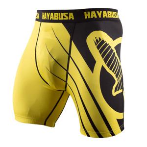 Compression Shorts Hayabusa Recast Yellow/Black men sport bjj