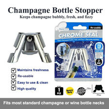 Champagne Stopper Sparkling Wine Bottle Plug Sealer Convenient Chrome Reusable