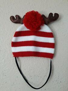 Christmas Reindeer Pet Dog/Cat Hat Costume Puppy Cat Xmas Gift S/M 1677
