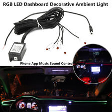 Car LED Ambient Light RGB Dashboard Decorative Mobile phone Music Sound Control