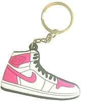 2D Mini Sneaker Air Jordan 1 Inspired Hyper Pink Retro Silicone Keychain