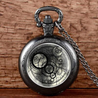 Vintage Space Time Retro Antique Quartz Pocket Watch Necklace Chain Pendant Gift