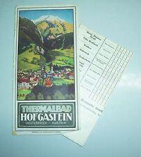 Faltblatt + Wohnungsliste Thermalbad Hofgasten Österreich um 1930 !