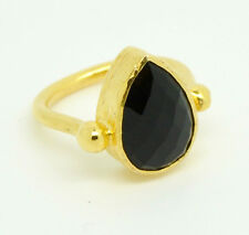 Ottoman Gems semi precious gem stone ring gold plated stacking spinel handmade