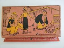1933 Vintage Popeye Pencil Case Holder King Features Olive Oyl Swee Pea Turtle