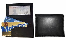 Lot of 2 Leather Business ID card case 3 card holder, New Slim Black card case