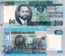 """MOZAMBIQUE 200 Meticais, 2011, UNC, P152 """"Lions"""""""