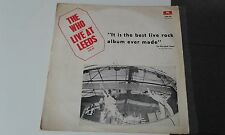 THE WHO LIVE AT LEEDS DIF COVER RAREST- ISRAELI LP MISPRINT, ISRAEL ONLY