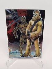 Star Wars Galaxy Series 1 Etched Foil Card #4 of 6 Chewbacca & C3PO