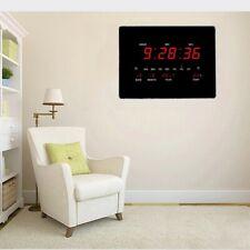 Orologio Digitale Moderno da Parete Muro Sveglia Led Orario Datario Temperatura