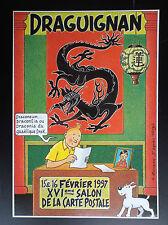 RARE carte postale Tintin Hors commerce 500 ex 1997 ETAT NEUF