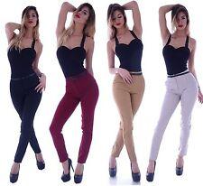 Markenlose Damen-Jeans mit hoher Bundhöhe