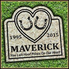 "Pet Memorial Grave Marker 11"" x 12"" Personalized Horse Headstone Gravestone"