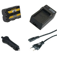 Batteria Patona + caricabatteria casa/auto per Sony SLT-A58,SLT-A65,SLT-A77