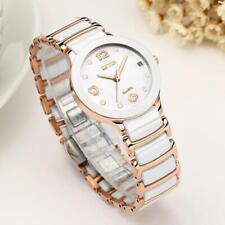 Luxury Ceramic Bracelet Watch Casual Analog Quartz Women Couples Wristwatch