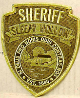 SLEEPY HOLLOW Sheriff Uniform Shoulder Embroidered Patch -new