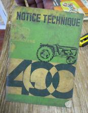 Notice technique tracteur UTB type 400 - Uzina Tractorul Brașov en Français 1969