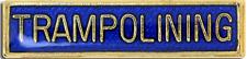Trampolining Bar Pin Badge in Blue Enamel