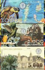 Colombia (Medellin) set 6 banknotes 2013  CAFETEROS UNC (private issue)