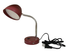 MaxLite LED Desk Lamp USB Charging Port Flexible Neck Burgundy Green Pink Blue