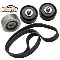 Drive Fan Belt + Idler Pulley Kit For Toyota Hilux 1KDFTV 3.0L KUN16 KUN26