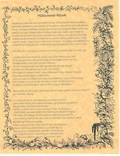 Book of Shadows Spell Pages ** Midsummer Ritual ** Wicca Witchcraft BOS