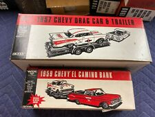 Ertl Wix Filters 1957 Chevy Drag Car & Trailer and tow vehicle