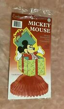"""Eureka Mickey Mouse 10"""" Honeycomb Tissue Paper Centerpiece New + Cleo Decoration"""