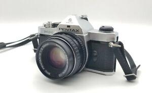 Pentax MX Camera SMC Pentax-M 1:2 50mm Lens TESTED